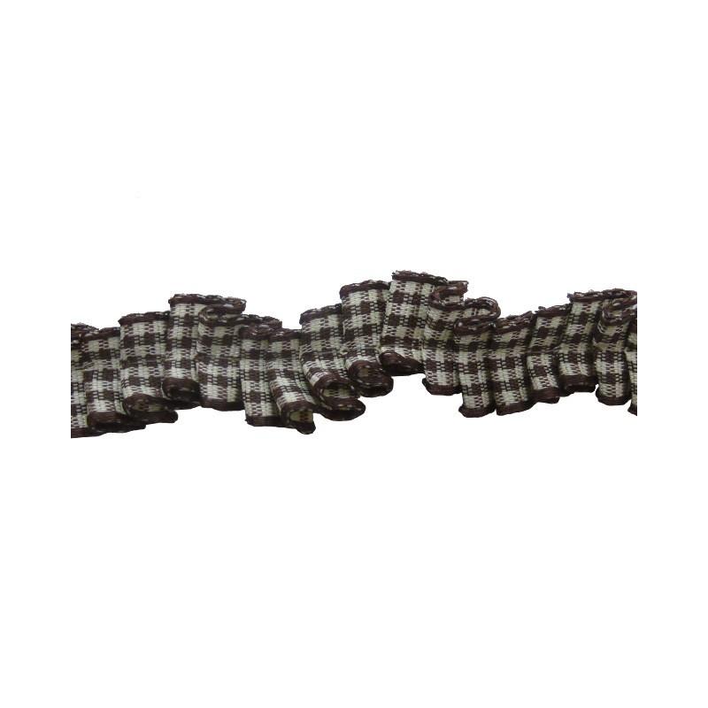 Plisado zig-zag vichi marrón 1 cm