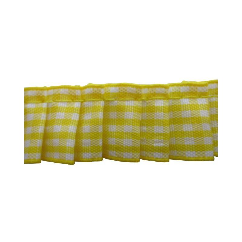 Plisado vichi amarillo 2 cm