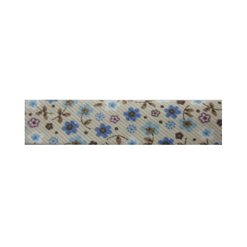Bies flores beige y azul (18 mm)