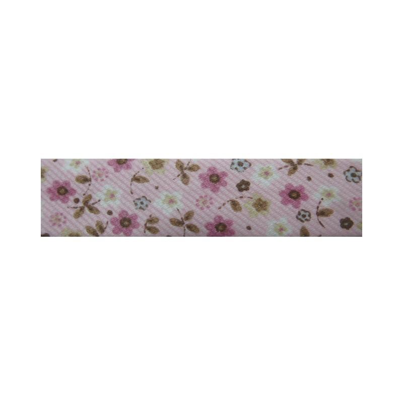 Bies flores rosa y marrón (18 mm)