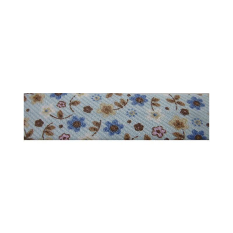 Bies flores azul y marrón (18 mm)
