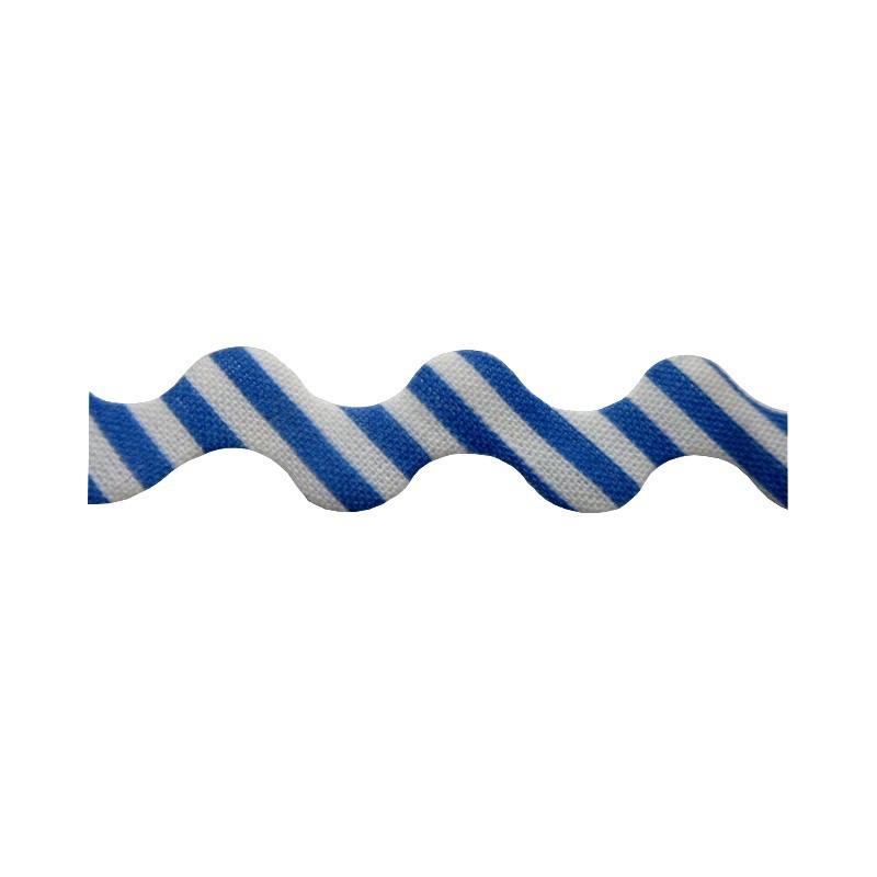 Zig zag rayas azul marino/blanco