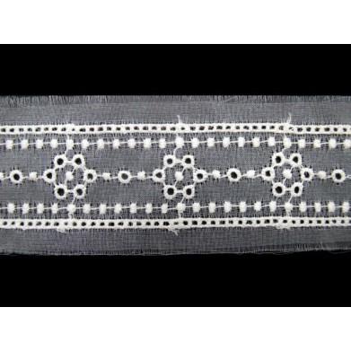 Puntilla cristal beige 4 cm