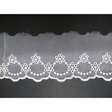 Puntilla cristal beige 5,5 cm
