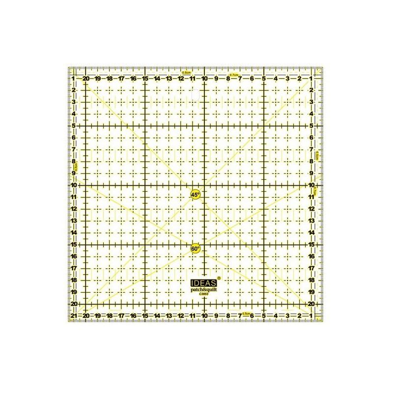 Regla Patchwork 21,5 x 21,5 cm