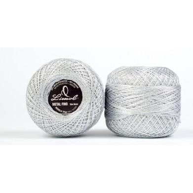 Crochet metalizado fino