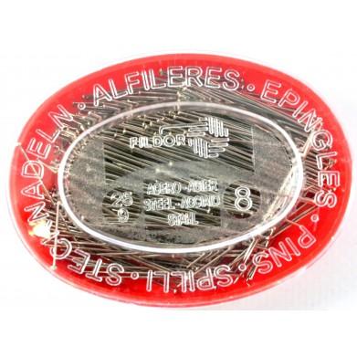 Alfileres acero 34mm, 25gr