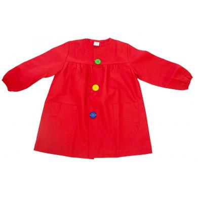 Mandilón rojo botón grande