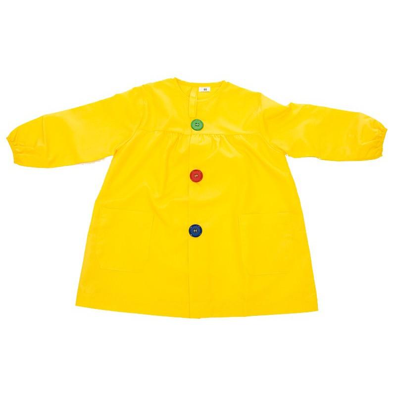 Mandilón amarillo botón grande