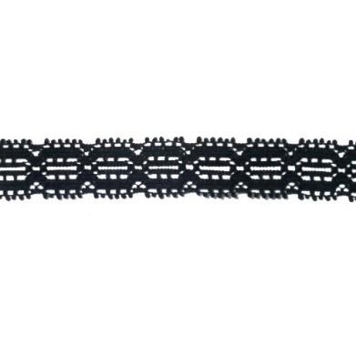 Puntilla nylon negro 1,5 cm