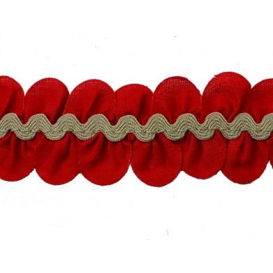 Pétalos - ondulina rojo/camel