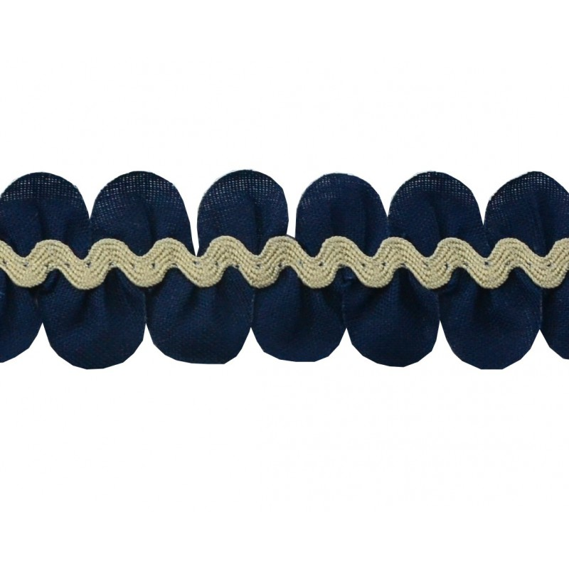 Pétalos - ondulina azul marino/camel