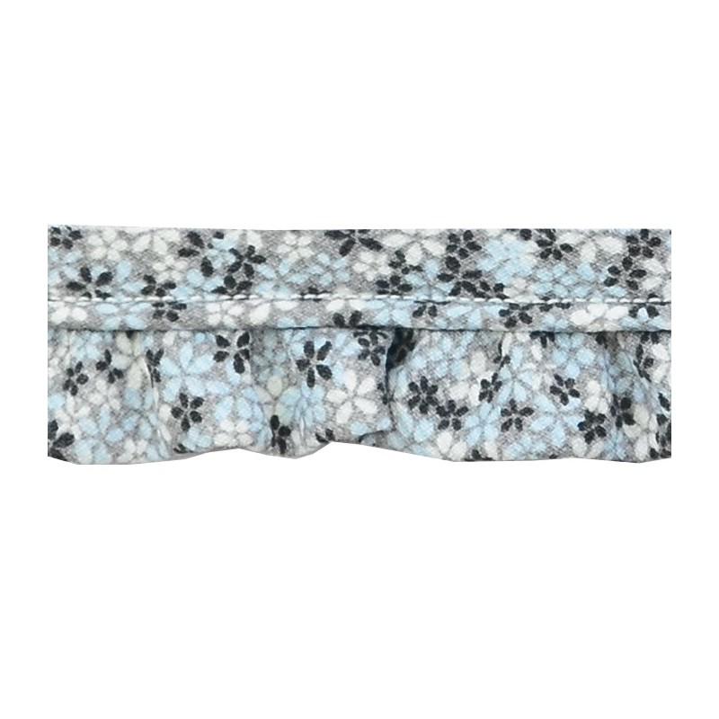 Vivo con fruncido flores gris(2,5 cm)