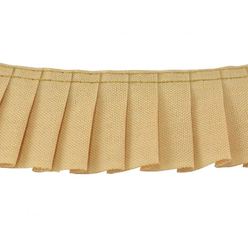 Plisado algodon camel 3 cm