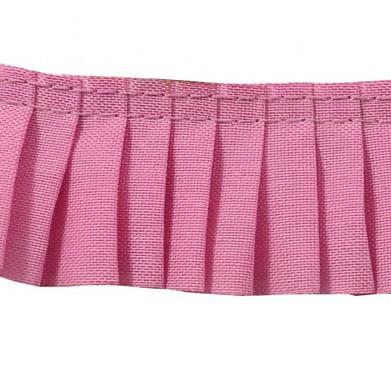 Plisado algodon rosa 3 cm
