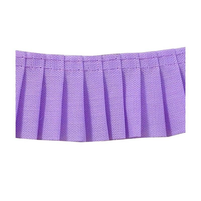 Plisado algodon lila 3 cm
