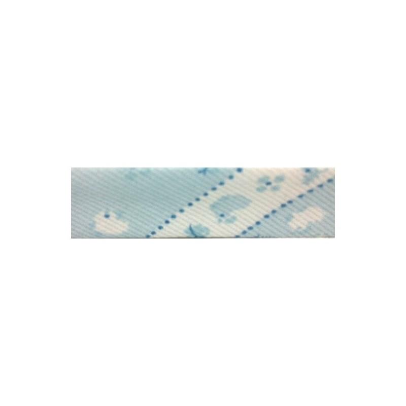Bies - azul y estampado de pollitos (18 mm)