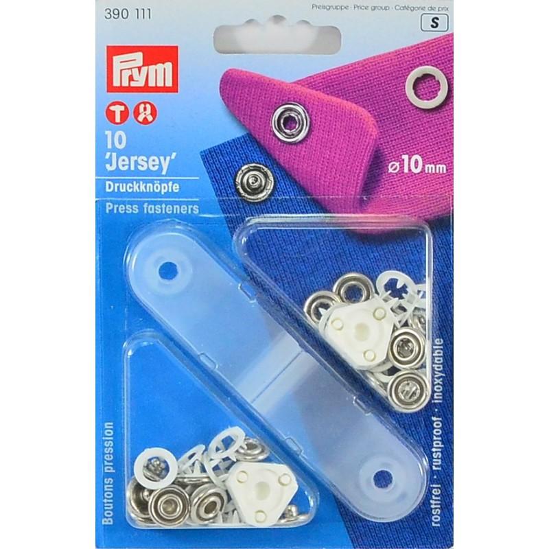 Botones de presión blanco 10mm