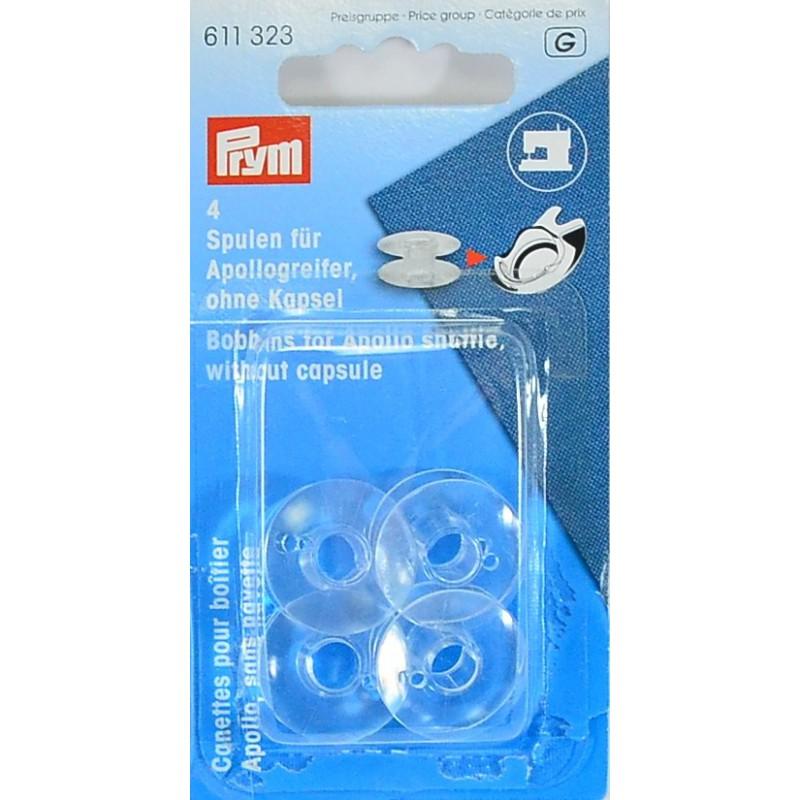 Canillas plásticas máquina de coser 20.5mm / 10.5mm