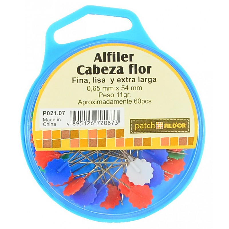 Alfiler cabeza de flor 0.65mm x 54mm