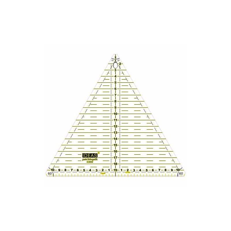 "Regla triangulo 9"" 60º Ideas"