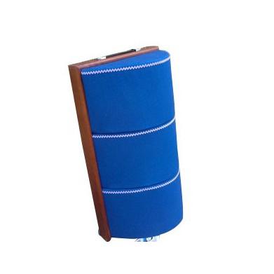 Almohada de bolillos abombada azul