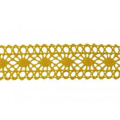 Puntilla hilo amarillo 2,5 cm