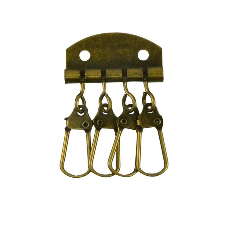 Llavero cartera oro viejo 3,5 cm