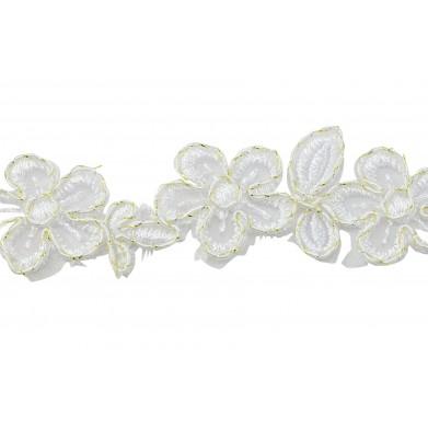 Pasamaneria flores blanco