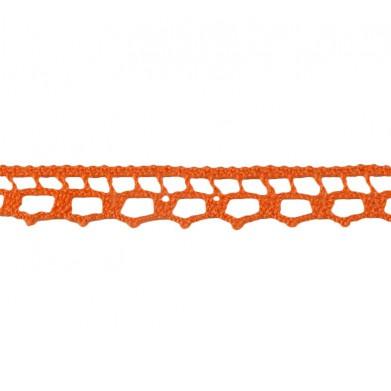 Puntilla hilo naranja 1 cm