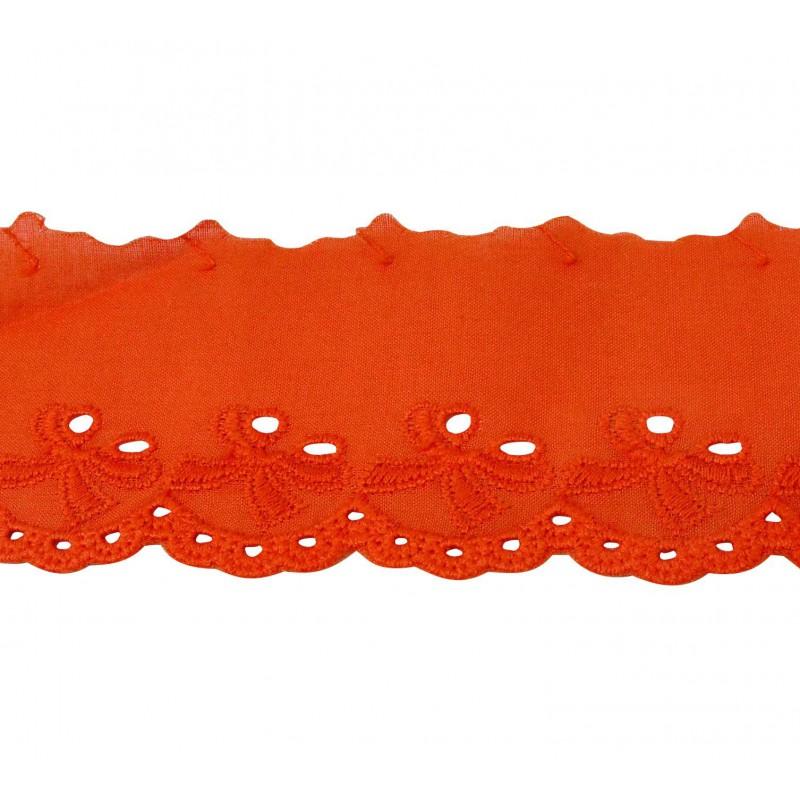 Tira bordada naranja 4 cm