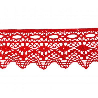 Puntilla hilo rojo 6 cm