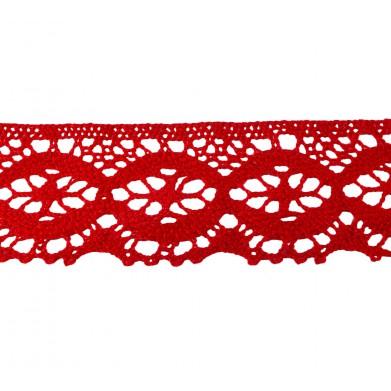 Puntilla hilo rojo 5 cm
