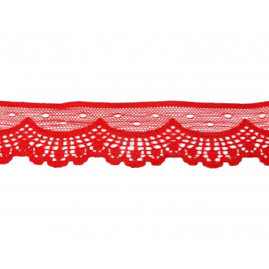 Puntilla nylon rojo 3,2 cm