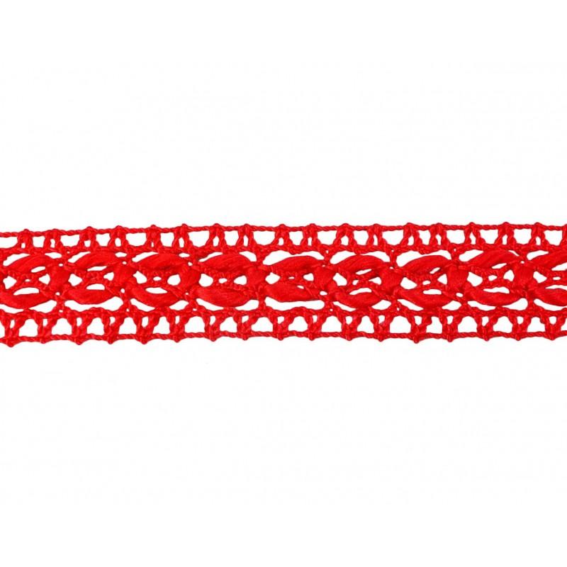 Puntilla hilo rojo 2,5 cm