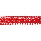 Entredos hilo rojo triángulos 2,5 cm