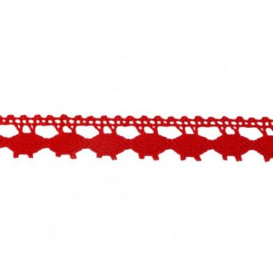 Puntilla hilo rojo 1,5 cm