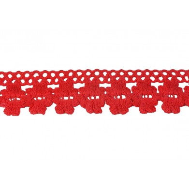 Puntilla hilo rojo mate 2 cm