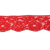 Puntilla nylon rojo 4,5 cm