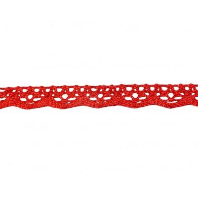Puntilla hilo rojo 1 cm brillo