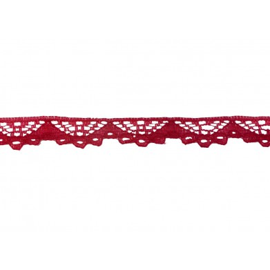 Puntilla nylon rojo 1 cm