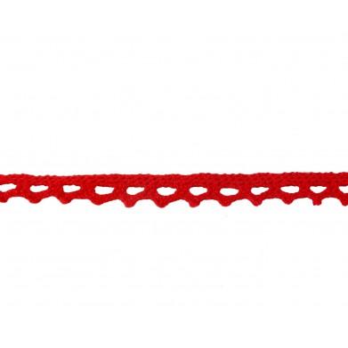 Puntilla hilo rojo 1 cm...