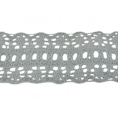 Puntilla hilo gris 4,5 cm