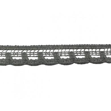 Puntilla hilo gris 1,5 cm