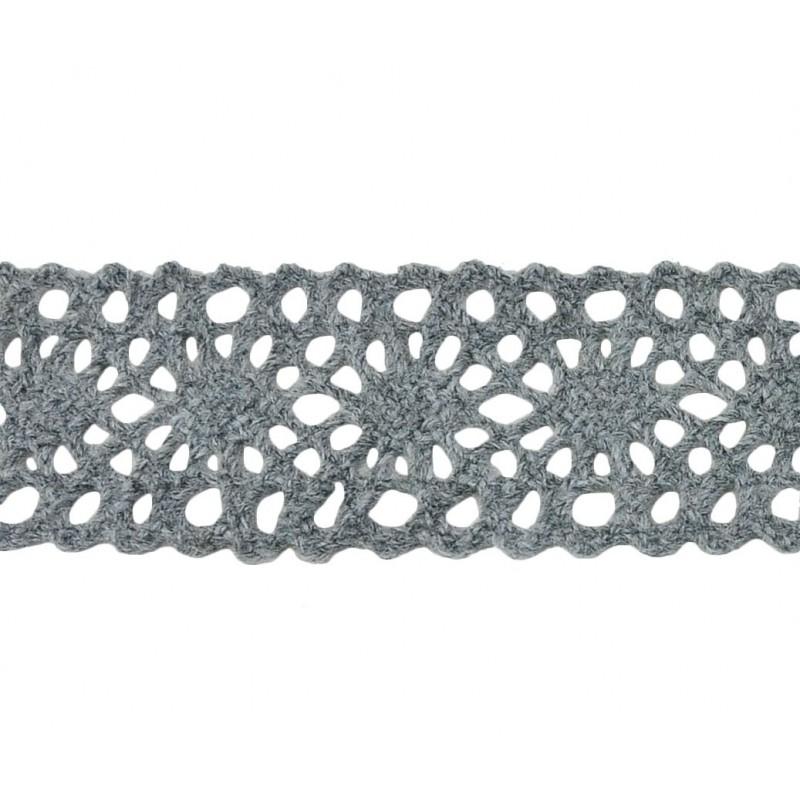 Puntilla hilo gris 3 cm
