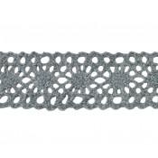Puntilla entredós hilo gris lana 3 cm