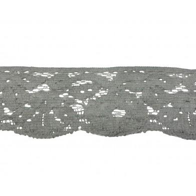 Puntilla nylon gris 4,5 cm