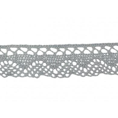 Puntilla hilo gris mar 3 cm