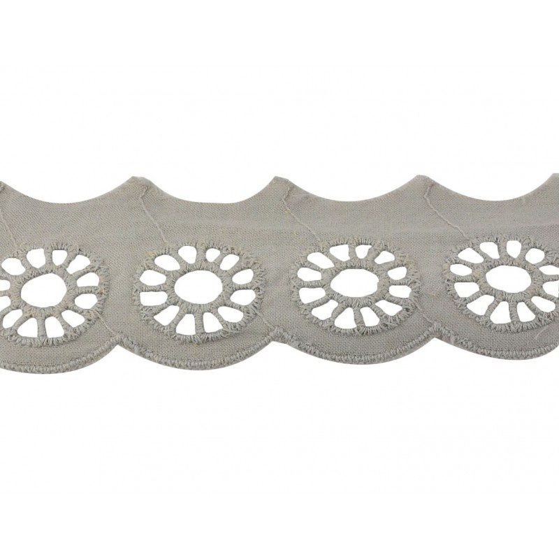 Tira bordada gris 3 cm