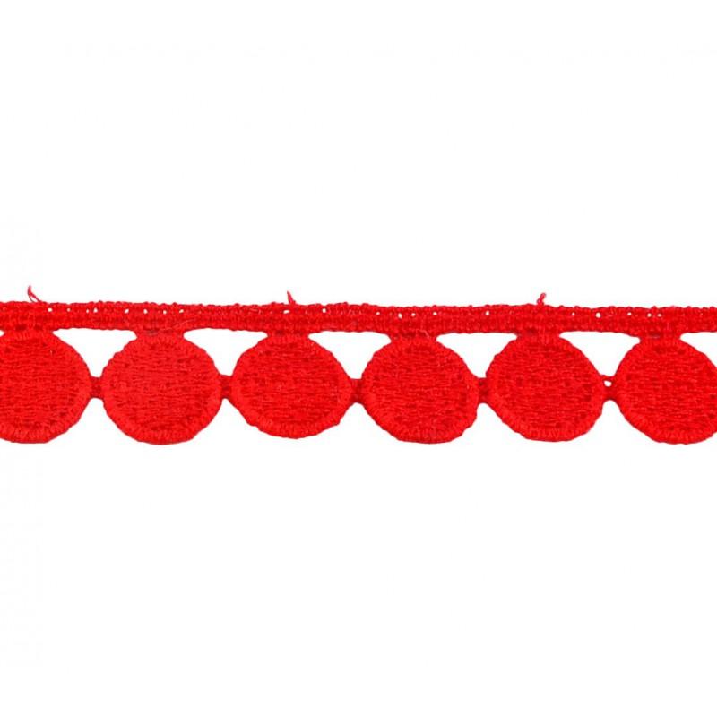 Puntilla hilo roja 1,5 cm